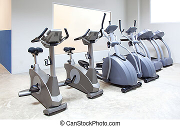elliptical cross trainer, stationary bicycle treadmill -...