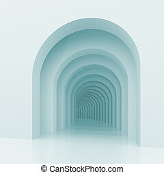 Architectural Background - 3d Illustration of Architectural...