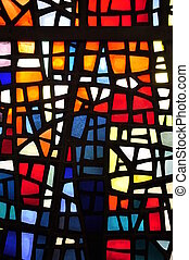 Stained glass - Abstract stanied glass window