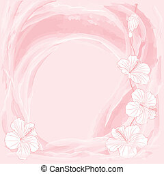 romantic floral background - vector romantic floral...