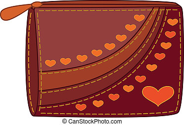 Purse with valentine hearts