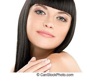 gorgeous brunette - gorgeous young caucasian brunette...