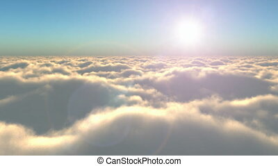Flight above the clouds - Scenic flight above the clouds...