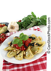 Cappelletti - fresh Rocket and Ricotta Cappelletti with pine...