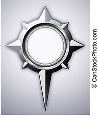 Steel Compass Rose with shadow