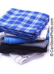 men handkerchiefs - men cotton handkerchiefs isolated on...