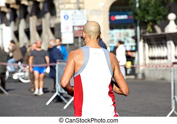 Man running - Marathon - Man running, Catania Marathon -...