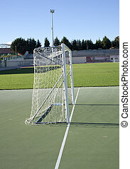 Football pitch  - Photo of football pitch on grass field