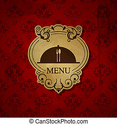 Menu pattern - Vector vintage red menu pattern
