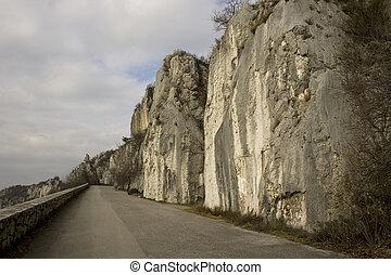 Mountain - Road next to the mountain, Trieste - Opicina