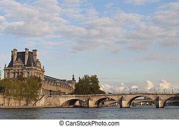 Bridges across the Seine in Paris