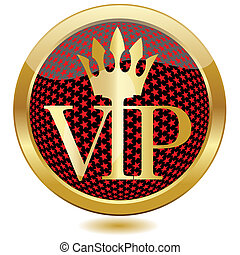 VIP button - Golden VIP button