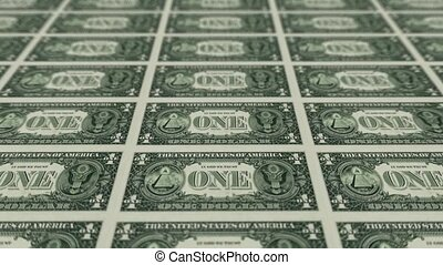 back of 1 dollar bills.
