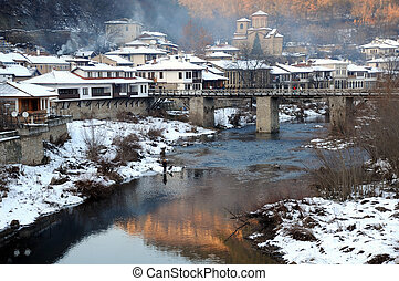 Asenov District in the Winter - The Yantra river and Asenov...