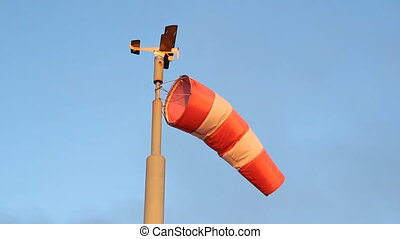Windsock. - Windsock with biplane model on top. Vancouver,...