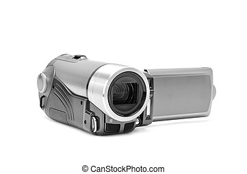 high-definition camera isolated on a white background...