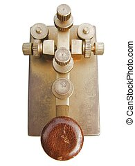 Telegraph key isolated