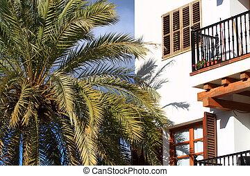 Balearic arquitecture in Ibiza,Balearic Island, Spain.