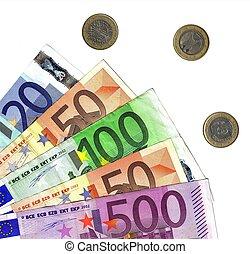 detail euro money