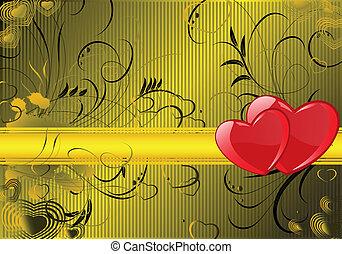 Valentine card - Grunge valentine card