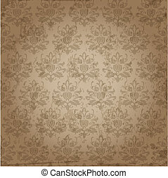 Seamless Damask Wallpaper Pattern in vector