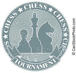 Chess tournament stamp