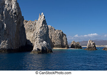 Dramatic rocks off the coast of Cabo san Lucas - Dramatic...