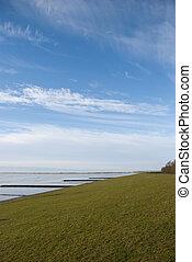 Dyke & Sky -  The dyke and the watt near Wilhelmshaven
