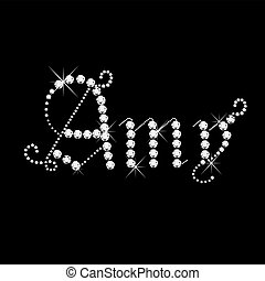 Amy girl name with diamonds