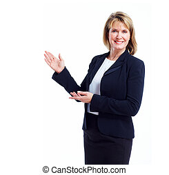 Executive business woman Isolated over white background