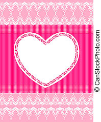 Beautiful pink background with lace and heart