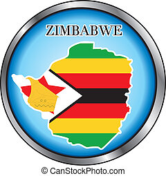 Zimbabwe Sahara Round Button - Vector Illustration for the...