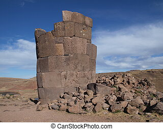 Ruins of Inca tower