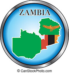 Zambia Sahara Round Button - Vector Illustration for the...