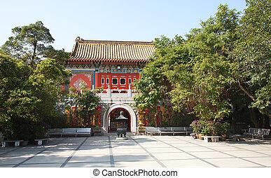 Po Lin monastery on Lantau Island Hong Kong