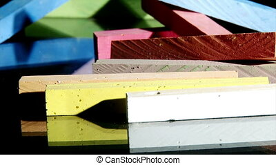 Chalk, colorful horizontal, dolly