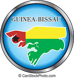 Guinea Bissau Round Button - Vector Illustration for the...