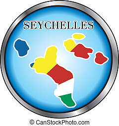 Seychelles Round Button - Vector Illustration for the...