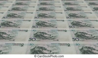 Printing Money Animation,RMB