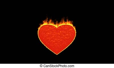 burning heart,valentine's day energy heart.