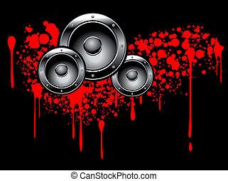 Abstract musical graffiti