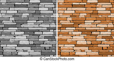 Seamless stone background in two variations for design