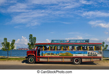 Bus in Cartagena - Colorful local bus in Cartagena de indias...