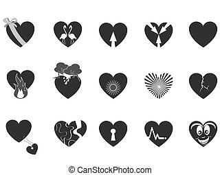 black loving heart icon - some black heart pattern icon for...