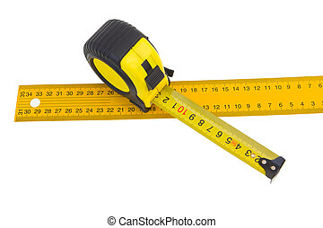 yardstick - measuring tape isolated on white background