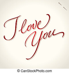 love you hand lettering vector - love you hand lettering -...