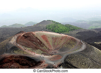 A crater of the Etna Volcano