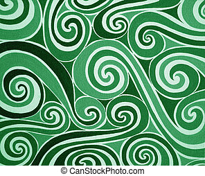Green spiral - Background with green and white spiral