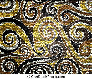 Beige and brown spirals - Background with beige and brown...