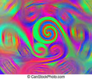 Colorful spiral - Background with various colorful spirals